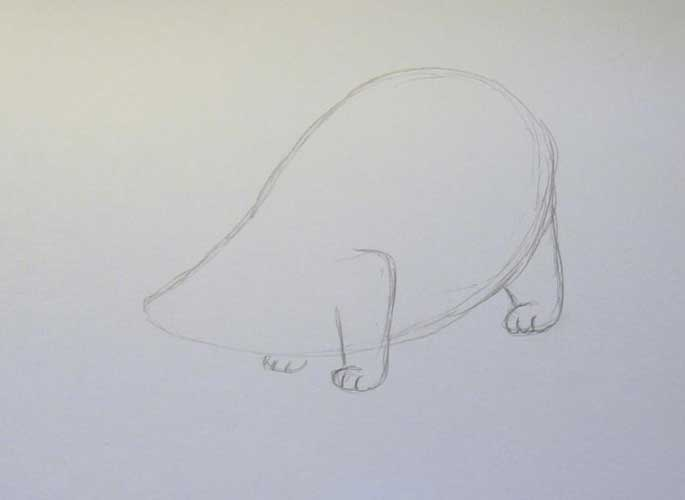 badger drawing easy