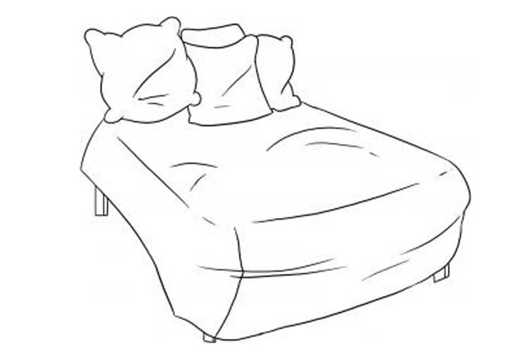 Bed Drawing easy