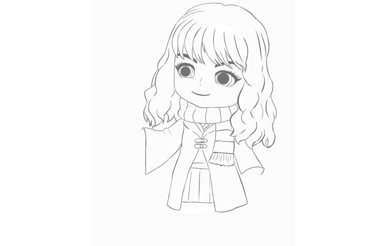 hermione granger drawing easy