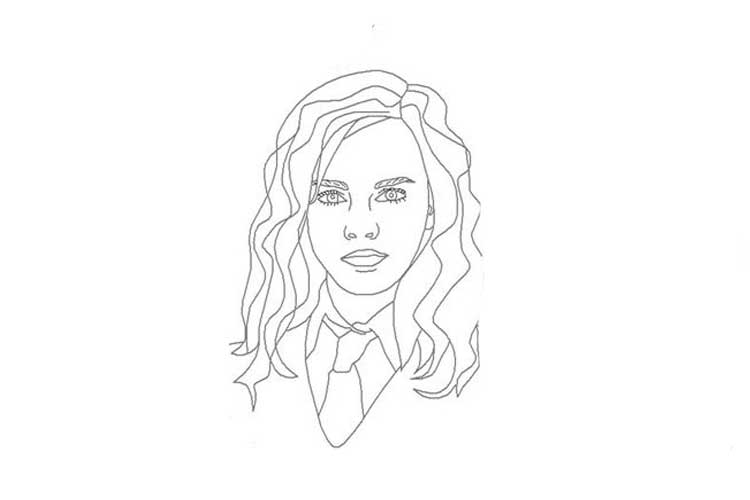 hermione granger drawing outline